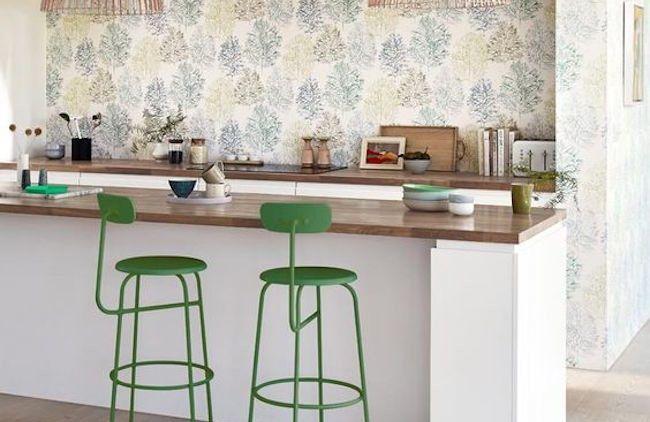 Decoración verde cocina