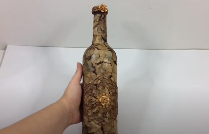 decoracion botella cristal