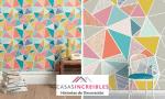 Diseños triángulos paredes