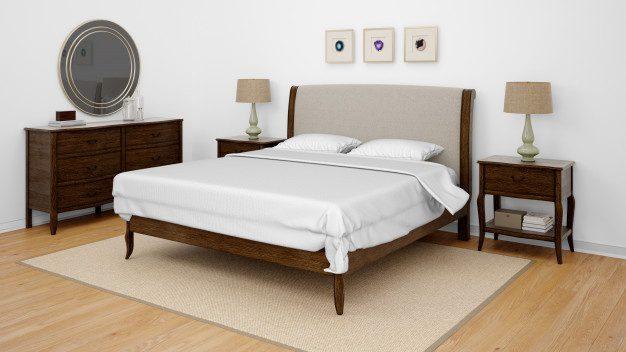 cama con cabecero elengante